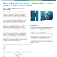 Analysis of 14 sulfonylurea herbicides residues in water by direct injection