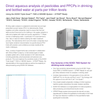 Direct aqueous analysis of pesticides and PPCPs in drinking and bottled water at ppt levels