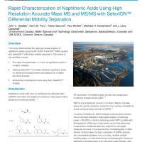 Rapid Characterization of Naphthenic Acids Using Ion Mobility and HRMS