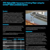 EPA 539 - Hormones analysis in Drinking Water