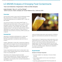 LC-MS:MS Analysis of Emerging Food Contaminants