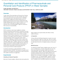 Quantitation and Identification of Pharmaceuticals and Personal Care Products (PPCP) in Water Samples