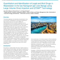 Quantitation and Identification of Legal and Illicit Drugs in Wastewater