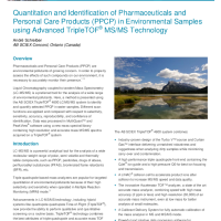 Quantitation and Identification of Pharmaceuticals and Personal Care Products (PPCP) in Environmental Samples using HRMS