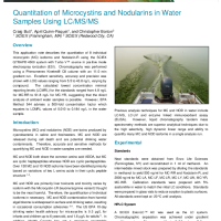 Quantitation of Microcystins and Nodularins in Water Samples