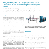 Analysis of Propofol (2,6-Diisopropylphenol) and its Metabolites in One Injection
