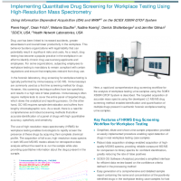 Implementing Quantitative Drug Screening for Workplace Testing Using HRMS