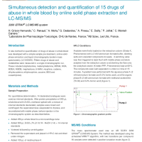 Simultaneous detection and quantification of 15 drugs of abuse in whole blood by online SPE