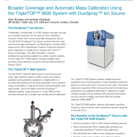 Broader Coverage and Automatic Mass Calibration Using the TripleTOF System with DuoSpray Ion Source