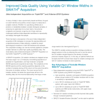 Variable Q1 Window Widths in SWATH Acquisition - Tech Note