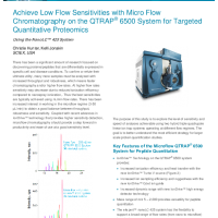 Achieve Low Flow Sensitivities with Micro Flow Chromatography on QTRAP System for Targeted Quantitative Proteomics