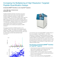 Increasing the Multiplexing of High Resolution Targeted Peptide Quantification Assays