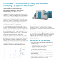 Accelerated pharmacokinetic profiling and metabolite monitoring