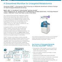 A Streamlined Workflow for Untargeted Metabolomics