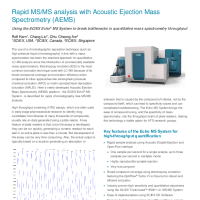 Rapid MS:MS analysis with Acoustic Ejection Mass Spectrometry (AEMS)