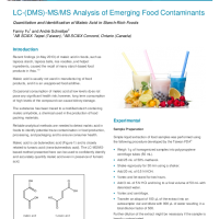 Quantitation and Identification of Maleic Acid in Starch-Rich Foods