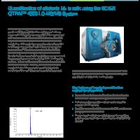 Quantification of aflatoxin M1 in milk