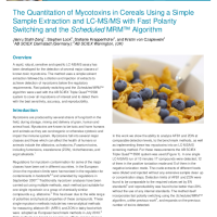 The Quantitation of Mycotoxins in Cereals Using a Simple Sample Extraction and LCMS with Fast Polarity Switching and the Scheduled MRM Algorithm