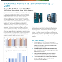 Simultaneous Analysis of 25 Mycotoxins in Grain by LC-MS:MS