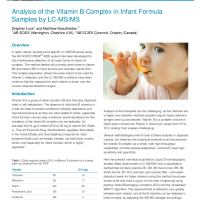 Analysis of the Vitamin B Complex in Infant Formula Samples