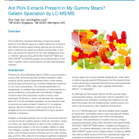 Are Pork Extracts Present in My Gummy Bears? Gelatin Speciation by LCMS