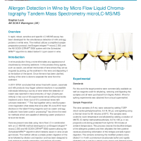 Allergen Detection in Wine by Micro Flow Liquid Chromatography Tandem Mass Spectrometry microLCMS