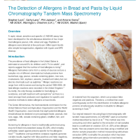 The Detection of Allergens in Bread and Pasta by LCMS