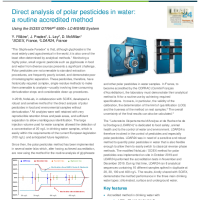 Direct analysis of polar pesticides in water with a routine accredited method